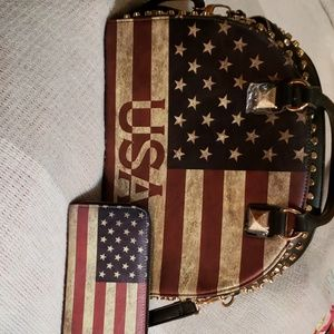 Brand new without tags very nice flag purse i
